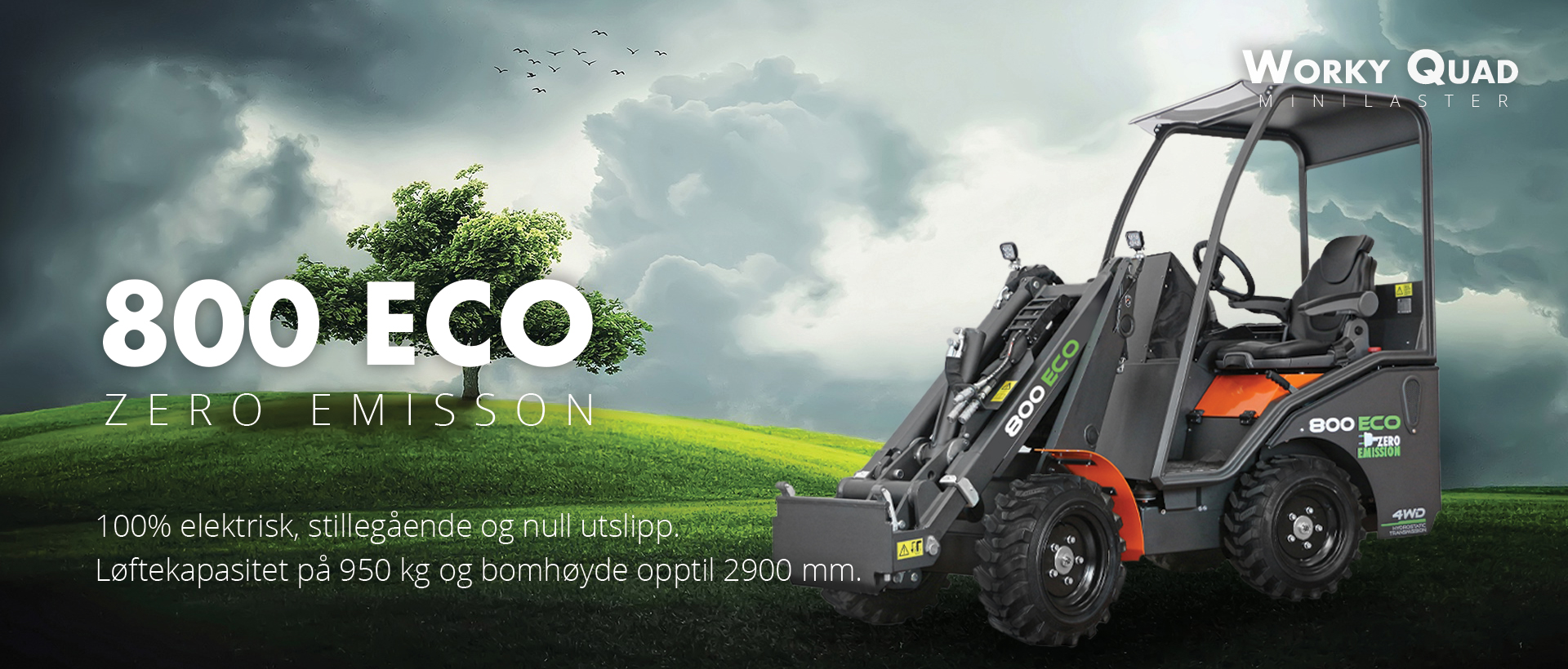 Worky Quad minilaster 800 Eco